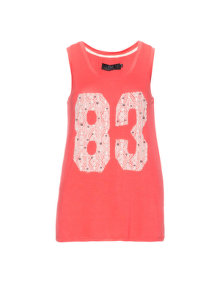 Zay Embellished tanktop  Coral-Orange