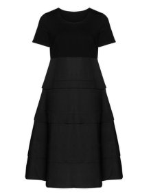 Isolde Roth Terraced cotton dress Black