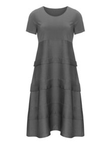 Isolde Roth Terraced cotton dress Grey