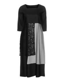 Isolde Roth Linen lace dress Black / Grey