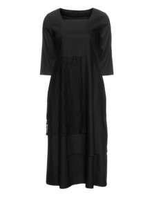 Isolde Roth Linen lace dress Black
