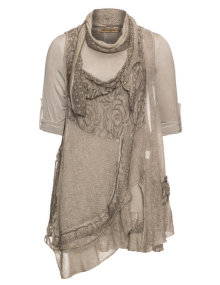 Nostalgia Combined dress Taupe-Grey
