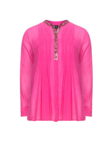 Zay Sequined cotton blouse Pink
