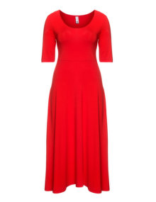 Manon Baptiste Long jersey dress Red