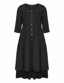 Isolde Roth Linen cotton dress Black