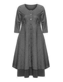 Isolde Roth Linen cotton dress Grey