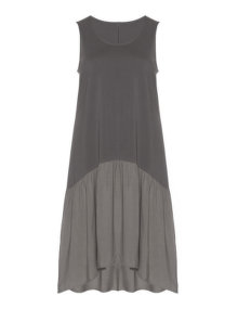 Isolde Roth A-line cotton dress Grey