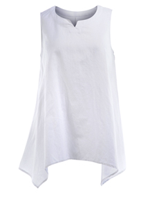 Isolde Roth Loose linen top White