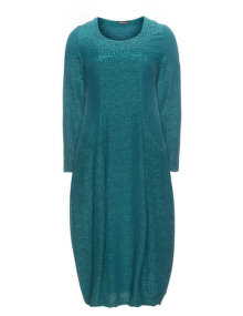 Grizas Cotton and silk bubble dress Petrol