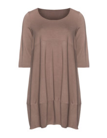 Isolde Roth Balloon dress from jersey Light-Brown