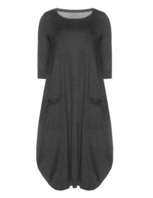 Isolde Roth Cotton balloon dress Anthracite