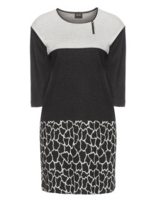 Choise Knitted cotton dress Black / Grey