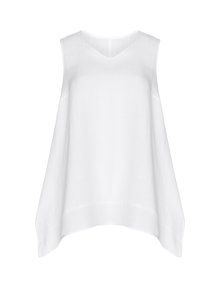 Isolde Roth A line linen top White