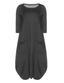 Isolde Roth Cotton balloon dress Grey