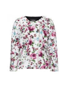Carmakoma Lined floral print jacket White / Versicolour